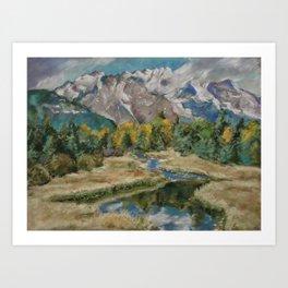 #12-Grand Tetons and the Creek Art Print