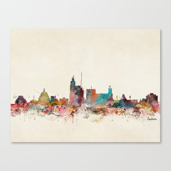 jackson mississippi Canvas Print