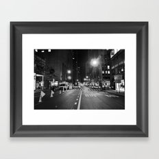 Late Shift Noir Framed Art Print