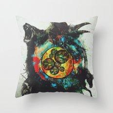Circle of Life Surreal Study Throw Pillow