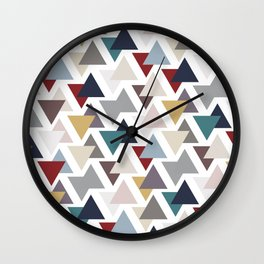 Scatter triangles Wall Clock