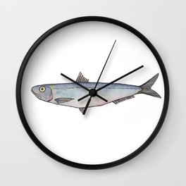 Sardine: Fish of Portgual Wall Clock