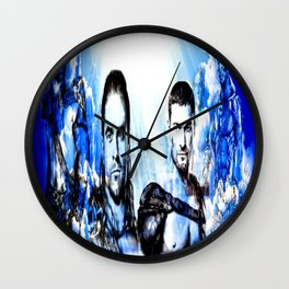 Gladiators Into the Afterlife Wall Clock