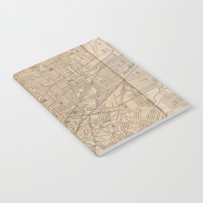 Vintage Map of Buffalo NY (1895) Notebook