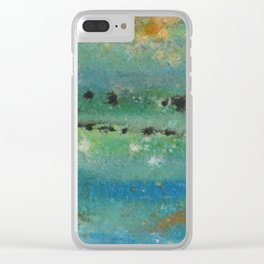 Eroded Planet Clear iPhone Case