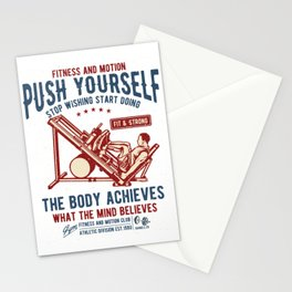 Fitness and Motion Club - Push Yourself Stationery Cards