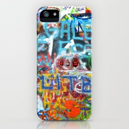 grafitti wall iPhone Case