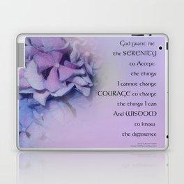 Serenity Prayer Hydrangeas Harmony Lavender Laptop & iPad Skin