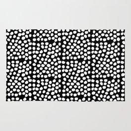 Bryan - black and white minimal dots polka dots cell phone iphone6 case trendy urban brooklyn minima Rug