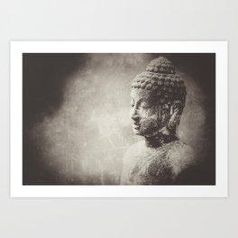 Buddha in Sepia Art Print