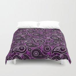 Purple Paisley Pattern Duvet Cover