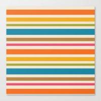 stripe Canvas Prints featuring stripe by bobbybard