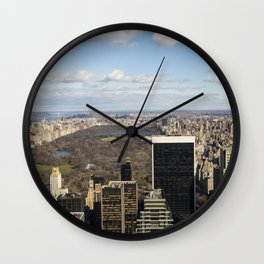 Top of the Rock view of Central Park in NYC Wall Clock