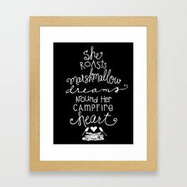Marshmallow Dreams - (Black Background) by Jessica Kirkland Framed Art Print