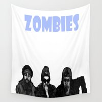 zombie Wall Tapestries featuring Yeah Zombie Zombie Zombie  by Golly Good