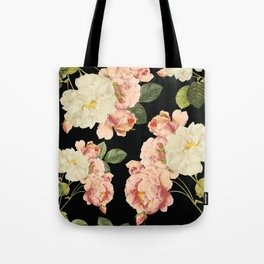 Flora temptation - night Tote Bag