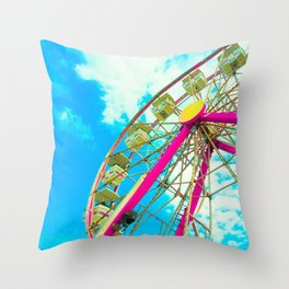 Candy Colored Ferris Wheel Throw Pillow