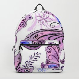 Colorful Butterflies and Flowers V12 Backpack