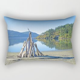 LATE SUMMER ON CRESCENT BEACH ORCAS ISLAND Rectangular Pillow