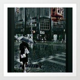 Asterisk/Right Arrow/Rainfall Art Print