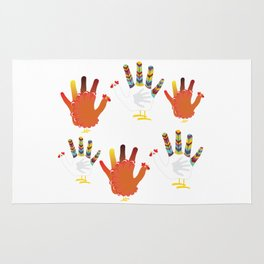 Hand chicken Rug