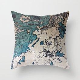 Lost Treasure Throw Pillow