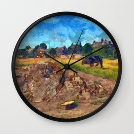 Luca On The Links Wall Clock
