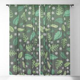 Green Leaf Sheer Curtain