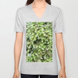 TEXTURES -- Moss on a Tree Trunk Unisex V-Neck