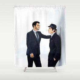 Sterek White Collar AU Shower Curtain