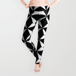 Geometric Pattern 247 (white crosses) Leggings