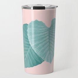 Love Leaves Evergreen Blush - Him & Her #2 #decor #art #society6 Travel Mug