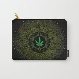Magic plant. Marijuana leaf. mandala Carry-All Pouch