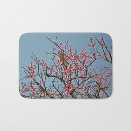 Japanese Plum Blossoms Bath Mat