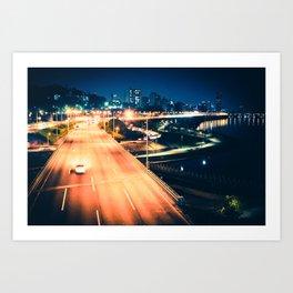 Han River Skyline Art Print