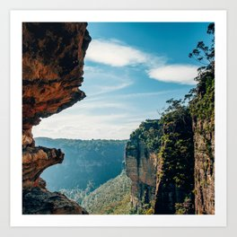 Majestic Scenic View From Inside A Breathtaking Canyon Art Print