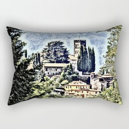 Duomo of Barga (dramatic) Rectangular Pillow