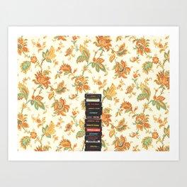 Games & Flower Wallpaper Art Print