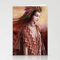 navajo Stationery Cards featuring Navajo by Nicolas Jamonneau