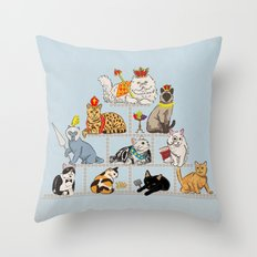 Cats Pyramid Throw Pillow
