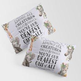 Cute Animals Nursery Room Decor Pillow Sham