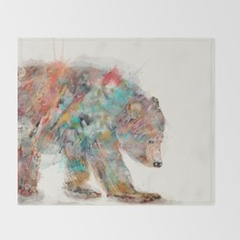 into the wild (the grizzly bear Throw Blanket