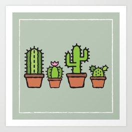 Cactus Collection - Sage Art Print