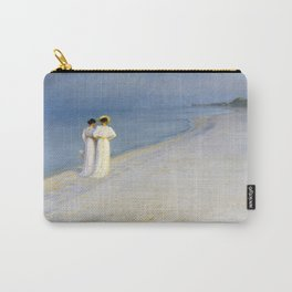 12,000pixel-500dpi - Peder Severin Kroyer - Summer Evening On The Souther Beach Carry-All Pouch