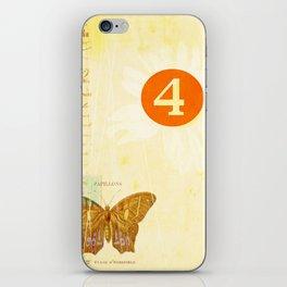 4 oclock butterfly  iPhone Skin