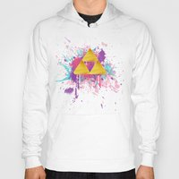 triforce Hoodies featuring Splash Triforce by Brittany