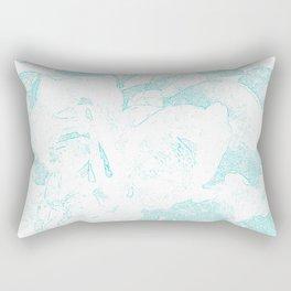 711 Camellias 1-6 Light Blue Rectangular Pillow