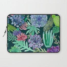Watercolor Succulent Collage Laptop Sleeve