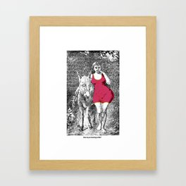 Does my ass look big in this? Framed Art Print