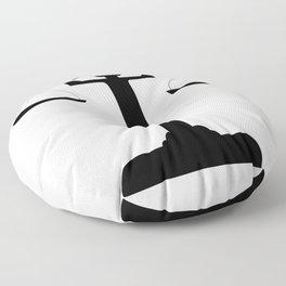weight scale Floor Pillow